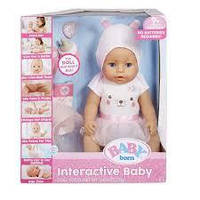 Оригинал. Кукла Беби Борн Baby Born Interactive Doll Blue Eyes Голубые глазки