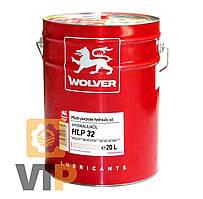 Олива гідравлічна WOLVER  HYDRAULIKÖL   HLP 32   (ISO 32)  17,6кг відро 20л жерсть