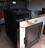 Дровяная каменка для бани Пруток-Панорама 18 м3, с выносом, фото 2