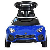 Детский толока Lamborghini (реплика) Синяя, фото 3