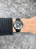 Женские часы Sk K0127L в цвете Black flower leather band
