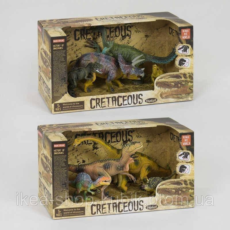 Набір рухливих динозаврів 4шт