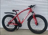 Спортивный велосипед Top Rider 215 Фэтбайк колеса 26 дюймов рама сталь красный