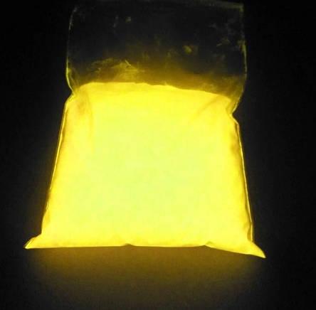 ЖОВТИЙ в темряві і на світлі Люмінофор, що СВІТИТЬСЯ порошок люминесцент ТМ Просто і Легко, 1000 г, фото 2