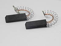 Щетки электродвигателя 6*12,5*31 мм. шнур посредине двухслойные (комплект 2 шт.)