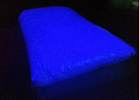 ТЕМНО СИНІЙ в темряві і на світлі СВІТИТЬСЯ порошок люминесцент ТМ Просто і Легко 500 г, фото 2