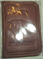 Обложка на водительские документы мини формата тёмно-коричневый