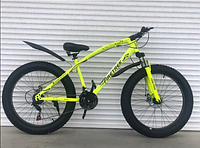 Спортивный велосипед Top Rider 215 Фэтбайк колеса 26 дюймов рама сталь салатовый
