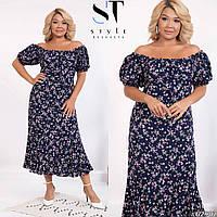 Платье женское летнее большие размеры Г05250, фото 1