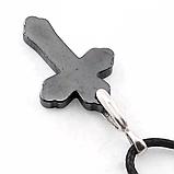 Гематит, серебро, крестик, 269КЛГ, фото 3