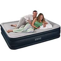 Надувная кровать двухспальная с встроенным насосом 203*152*42см Intex 64136
