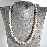 Жемчуг розовый, Ø9 мм., бусы, 521БСЖ, фото 2