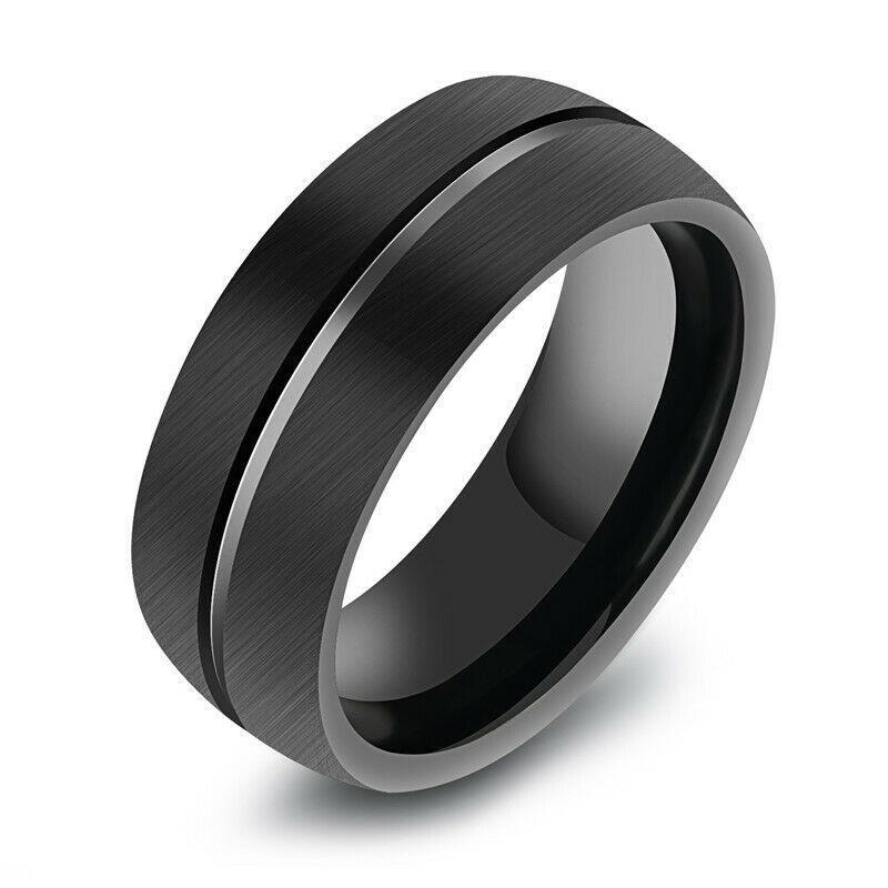 Кольцо из нержавеющей стали, черное анодирование, 1358КЖ