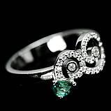 Серебряное кольцо с сапфиром, 1452КС, фото 2
