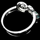 Серебряное кольцо с сапфиром, 1452КС, фото 3