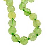 Гранат зеленый, граненый Ø10, бусы, фото 3
