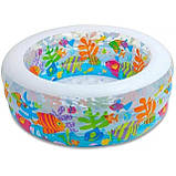 """Дитячий надувний басейн Intex,152*56см""""Акваріум"""" Басейн Интекс з надувним дном для дітей, для малюків 58480, фото 7"""