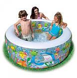 """Дитячий надувний басейн Intex,152*56см""""Акваріум"""" Басейн Интекс з надувним дном для дітей, для малюків 58480, фото 2"""