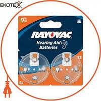 Varta Батарейка Rayovac 13 BLI 8 шт