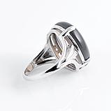 Агат халцедон, 20*15 мм., серебро 925, кольцо, 901КХ, фото 2