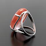 Серебряное кольцо с клубничным кварцем, 25*18 мм., 784КТ, фото 3