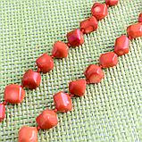 Коралл оранжевый, бусы, 345БСК, фото 3