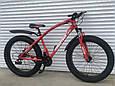 Велосипед ФЕТБАЙК Спорт 26 дюймов Горный спортивный велосипед FatBike 215 КРАСНЫЙ Внедорожник Fat Bike, фото 2