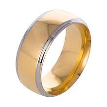 Кольцо из нержавеющей стали, золотистое анодирование, 1145КЖ