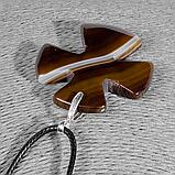 Крестик из агата, серебро, 1327КЛА, фото 3