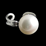 Жемчуг, Ø12 кольцо серебро, фото 2