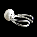 Жемчуг, Ø12 кольцо серебро, фото 3