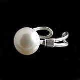 Жемчуг, Ø12 кольцо серебро, фото 4