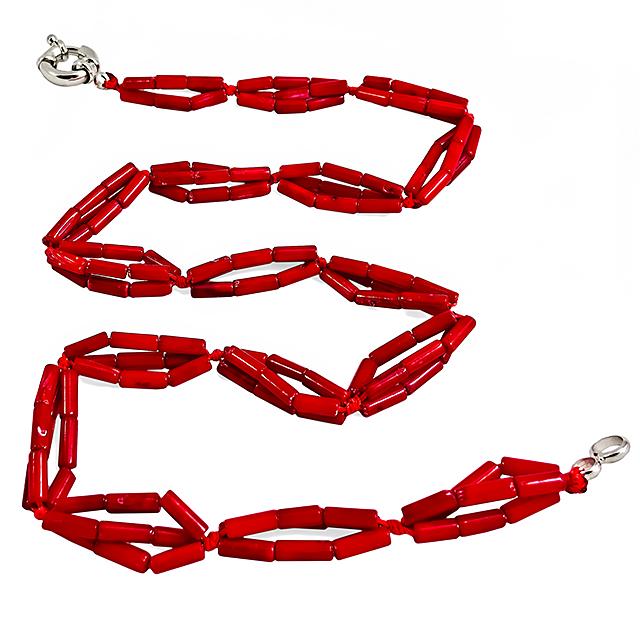 Коралл красный, 139БСК, колье