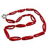 Коралл красный, 139БСК, колье, фото 2