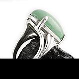 Нефрит, 20*15 мм., серебро 925, кольцо, 351КН, фото 3