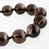 Раухтопаз шоколадный Ø12, бусы, 231БСР, фото 3