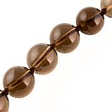 Раухтопаз дымчатый кварц шоколадный Ø10, бусы, 232БСР, фото 3