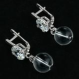 Горный хрусталь, серебро, серьги, 135СРГ, фото 2