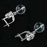 Горный хрусталь, серебро, серьги, 135СРГ, фото 3