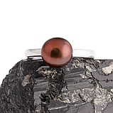 Жемчуг черный Ø8, серебро 925, кольцо, 400КЖ, фото 2