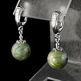 Лабрадор, серебро, серьги, 300СРЛ, фото 3