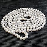 Жемчуг белый, Ø8*1,65 м., бусы, 344БСЖ, фото 2