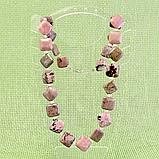 Родонит орлец, бусы, 368БСР, фото 2