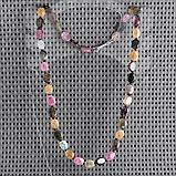 Турмалин разноцветный, бусы, 411БСТ, фото 2