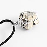 Пирит самородок, серебро, кулон, 814КЛП, фото 3