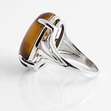 Тигровый глаз, 20*15 мм., серебро 925, кольцо, 896КТ, фото 3