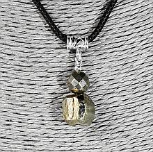 Пирит самородок, серебро, кулон, 977КЛП