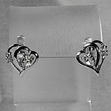 Аметист зеленый, серебро 925, серьги, 391СА, фото 2