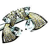 Серьги из серебра с топазом, 414СРТ, фото 2