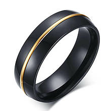 Кольцо из нержавеющей стали, черное и золотистое анодирование, 1276КЖ
